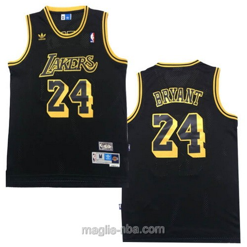 Maglia nba Adidas Los Angeles Lakers #24 Kobe Bryant retro nero