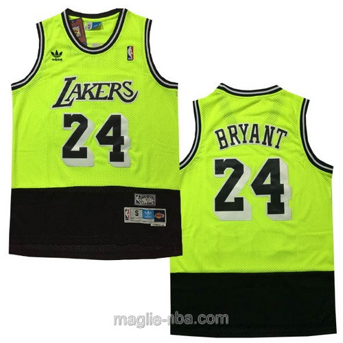 Maglia nba Adidas Los Angeles Lakers #24 Kobe Bryant verde nero