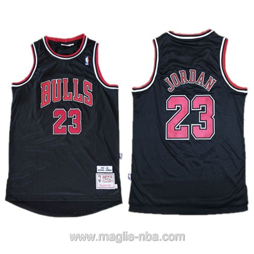 Maglia nba Authentic Chicago Bulls Michael Jordan #23 nero
