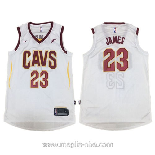 Maglia nba Authentic Cleveland Cavaliers LeBron James #23 2017 2018 bianco