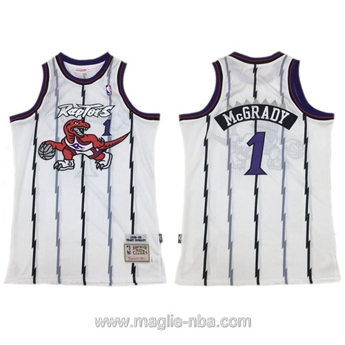 Maglia nba Authentic Toronto Raptors Tracy McGrady #1 bianco