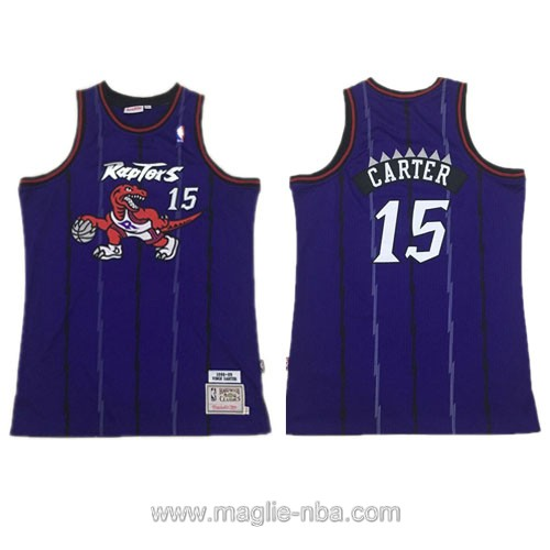 Maglia nba Authentic Toronto Raptors Vince Carter #15 porpora