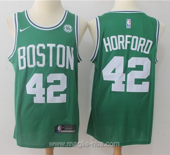 Maglia nba Boston Celtics #42 Alfred Horford 2017 2018 verde