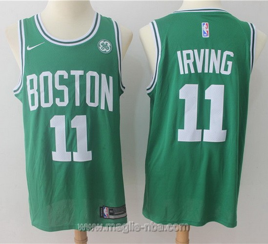 Maglia nba Boston Celtics Kyrie Irving 2017 2018 verde