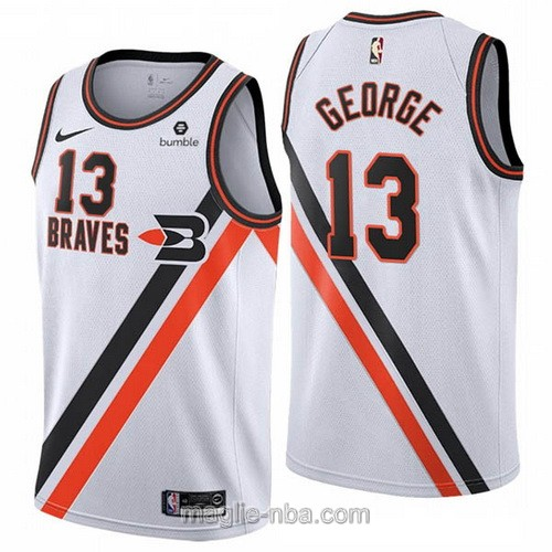 Maglia nba Buffalo Braves Nike Los Angeles Clippers #13 Paul George 2019-20 bianco