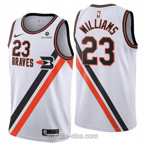 Maglia nba Buffalo Braves Nike Los Angeles Clippers #23 Lou Williams 2019-20 bianco