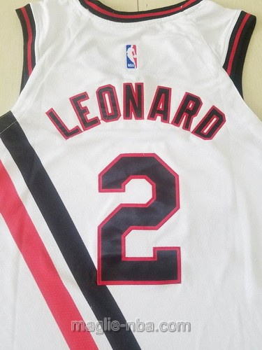 Maglia nba Buffalo Braves Nike Los Angeles Clippers #2 Kawhi Leonard 2019-20 bianco