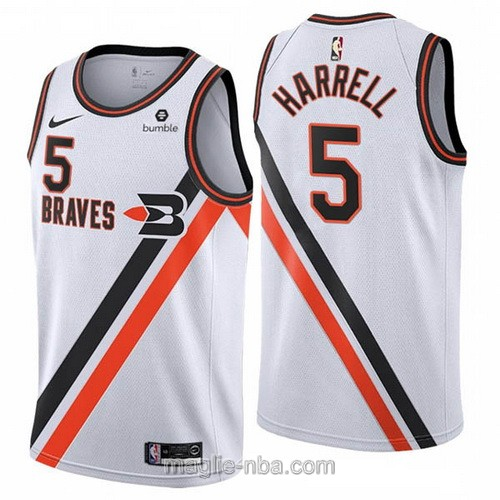 Maglia nba Buffalo Braves Nike Los Angeles Clippers #5 Montrezl Harrell 2019-20 bianco