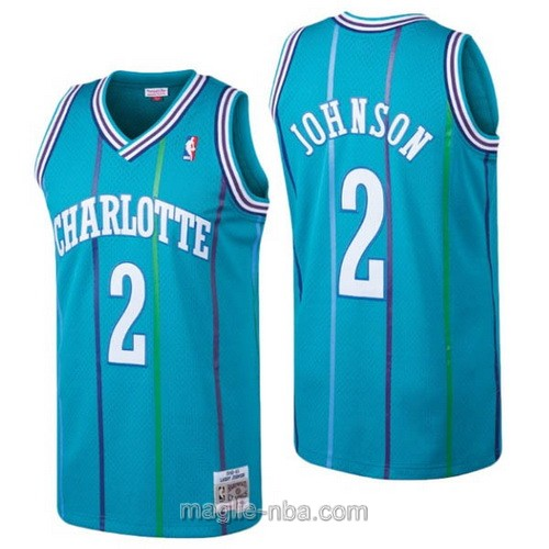 Maglia nba Charlotte Hornets #2 Larry Johnson blu