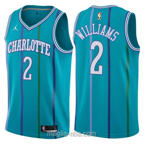 Maglia nba Charlotte Hornets #2 Marvin Williams verde