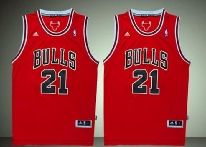 Maglia nba Chicago Bulls Jimmy Butler #21 rosso