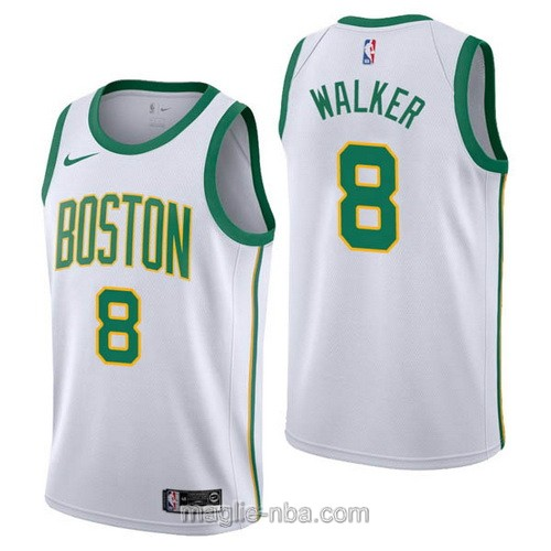 Maglia nba City Edition Nike Boston Celtics #8 Kemba Walker 2019 bianco