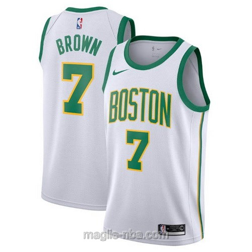 Maglia nba City Edition Nike Boston Celtics #7 Jaylen Brown 2019 bianco