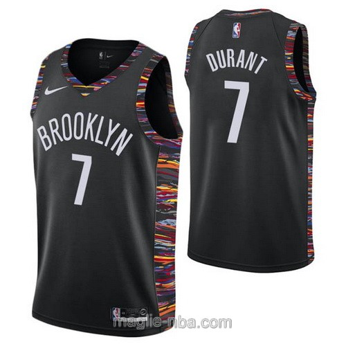 Maglia nba City Edition Nike Brooklyn Nets #7 Kevin Durant 2019 nero