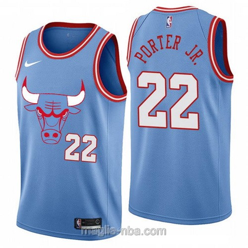 Maglia nba City Edition Nike Chicago Bulls #22 Otto Porter Jr. 2020 blu