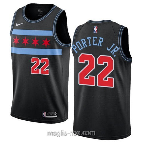 Maglia nba City Edition Nike Chicago Bulls #22 Otto Porter JR. 2019 nero