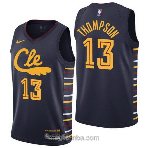 Maglia nba City Edition Nike Cleveland Cavaliers #13 Tristan Thompson 2019-20 nero