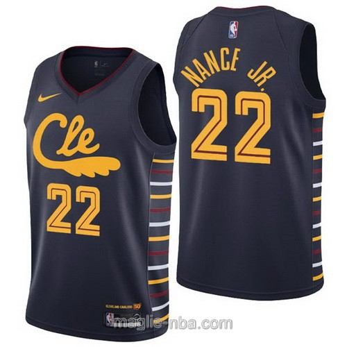 Maglia nba City Edition Nike Cleveland Cavaliers #22 Larry Nance Jr. 2019-20 nero
