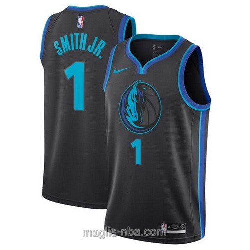 Maglia nba City Edition Nike Dallas Mavericks #1 Dennis Smith 2019 nero