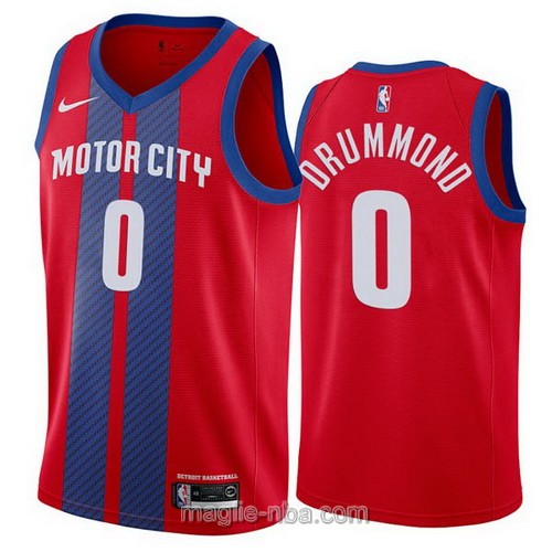 Maglia nba City Edition Nike Detroit Pistons #0 Andre Drummond 2019-20 rosso