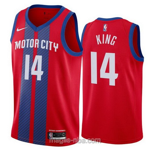Maglia nba City Edition Nike Detroit Pistons #14 Louis King 2019-20 rosso