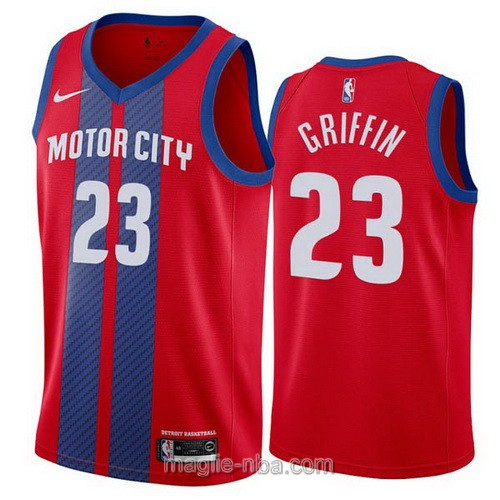 Maglia nba City Edition Nike Detroit Pistons #23 Blake Griffin 2019-20 rosso