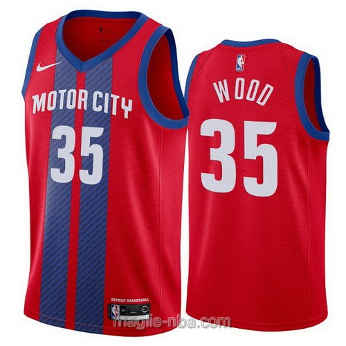 Maglia nba City Edition Nike Detroit Pistons #35 Christian Wood 2019-20 rosso