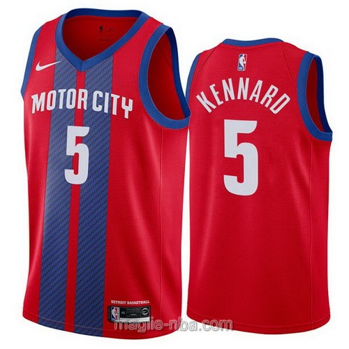 Maglia nba City Edition Nike Detroit Pistons #5 Luke Kennard 2019-20 rosso