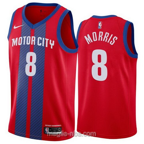 Maglia nba City Edition Nike Detroit Pistons #8 Markieff Morris 2019-20 rosso