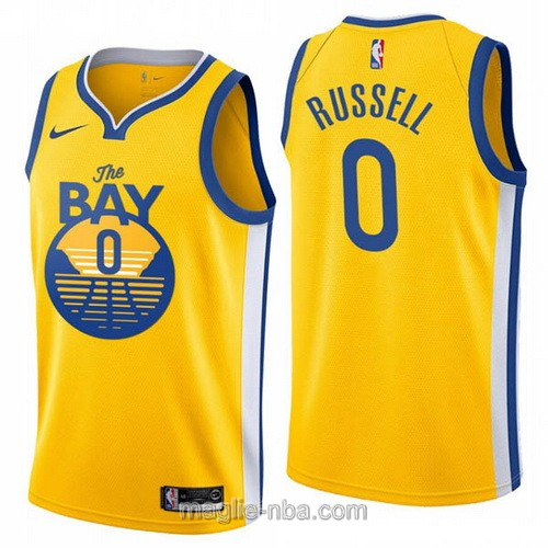 Maglia nba City Edition Nike Golden State Warriors #0 D'angelo Russell 2020 giallo