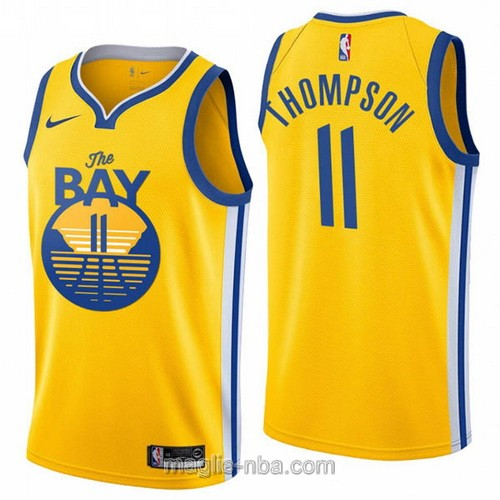 Maglia nba City Edition Nike Golden State Warriors #11 Klay Thompson 2020 giallo