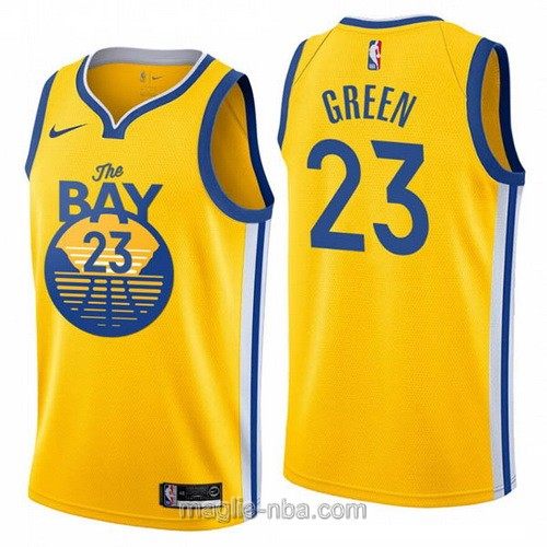 Maglia nba City Edition Nike Golden State Warriors #23 Draymond Green 2020 giallo
