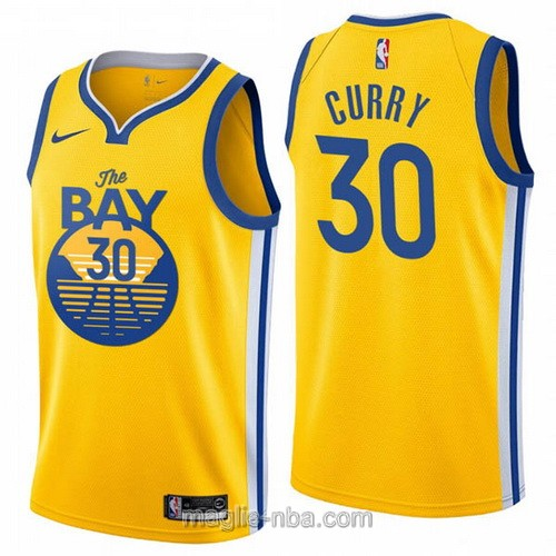 Maglia nba City Edition Nike Golden State Warriors #30 Stephen Curry 2020 giallo