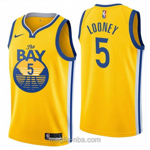 Maglia nba City Edition Nike Golden State Warriors #5 Kevon Looney 2020 giallo