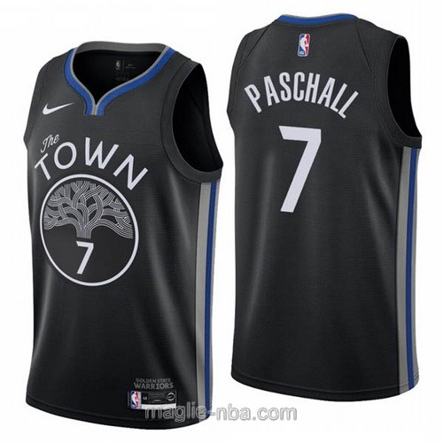 Maglia nba City Edition Nike Golden State Warriors #7 Eric Paschall 2020 nero
