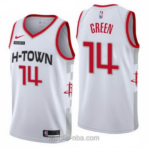 Maglia nba City Edition Nike Houston Rockets #14 Gerald Green 2019-20 bianco