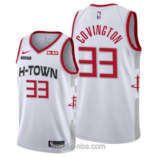 Maglia nba City Edition Nike Houston Rockets #33 Robert Covington 2019-20 bianco