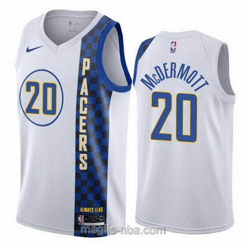 Maglia nba City Edition Nike Indiana Pacers #20 Doug McDermott 2019-20 bianco