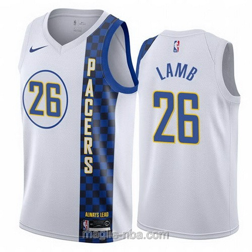 Maglia nba City Edition Nike Indiana Pacers #26 Jeremy Lamb 2019-20 bianco