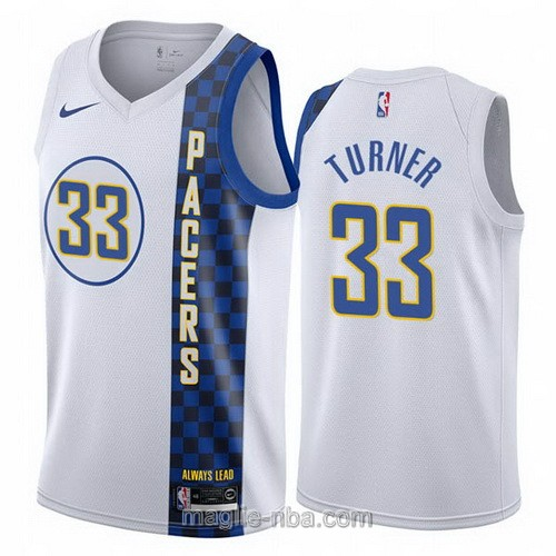 Maglia nba City Edition Nike Indiana Pacers #33 Myles Turner 2019-20 bianco