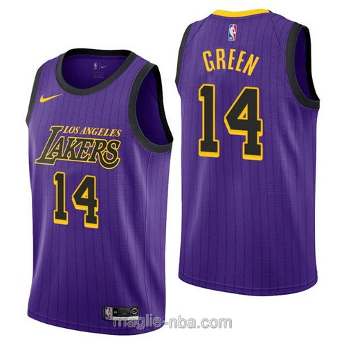 Maglia nba City Edition Nike Los Angeles Lakers #14 Danny Green 2019 porpora