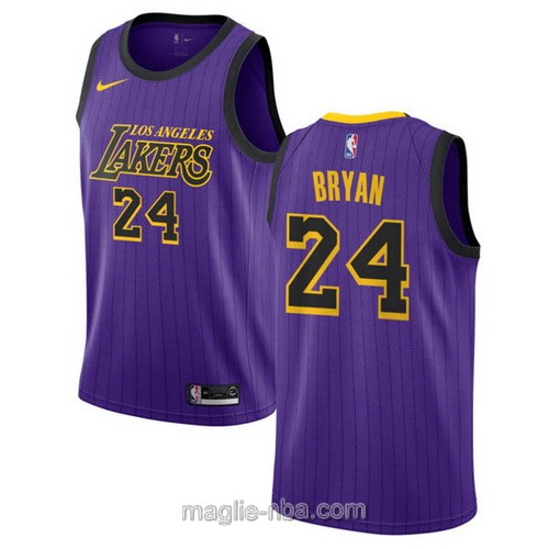 Maglia nba City Edition Nike Los Angeles Lakers #24 Kobe Bryant 2019 porpora