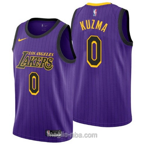 Maglia nba City Edition Nike Los Angeles Lakers #0 Kyle Kuzma 2019 porpora