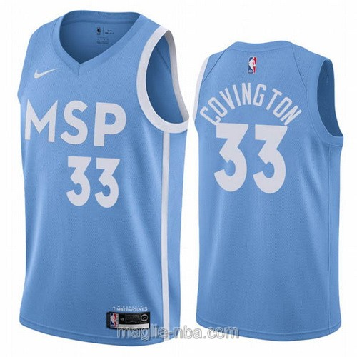 Maglia nba City Edition Nike Minnesota Timberwolves #33 Robert Covington 2019-20 blu