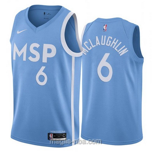 Maglia nba City Edition Nike Minnesota Timberwolves #6 Jordan McLaughlin 2019-20 blu