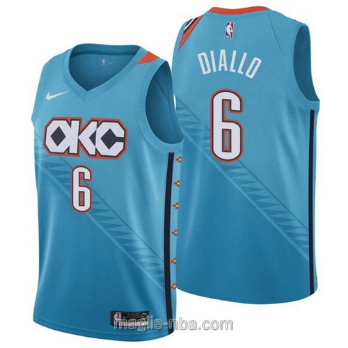 Maglia nba City Edition Nike Oklahoma City Thunder #6 Hamidou Diallo 2019 blu