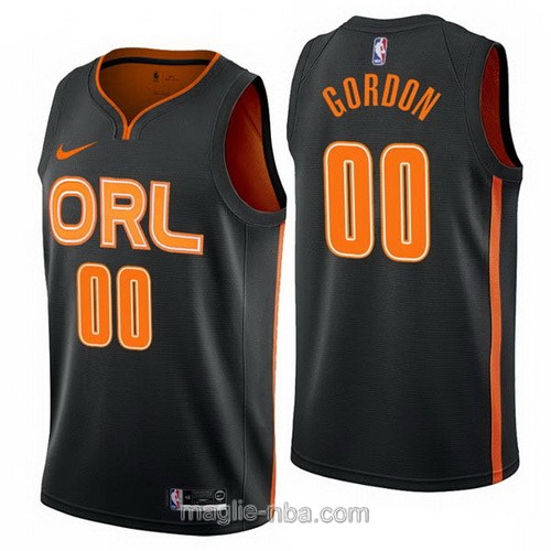 Maglia nba City Edition Nike Orlando Magic #00 Aaron Gordon 2019-20 nero
