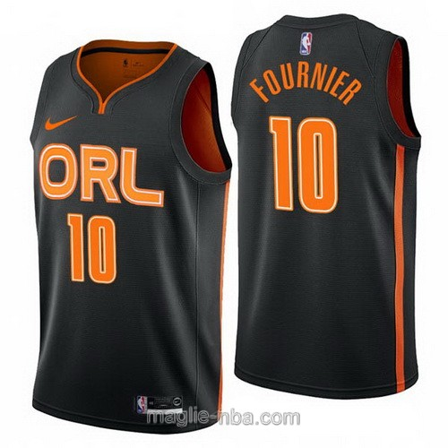 Maglia nba City Edition Nike Orlando Magic #10 Evan Fournier 2019-20 nero