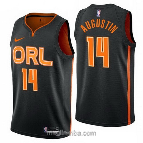 Maglia nba City Edition Nike Orlando Magic #14 D.J. Augustin 2019-20 nero