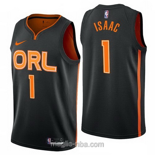Maglia nba City Edition Nike Orlando Magic #1 Jonathan Isaac 2019-20 nero